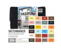 Набор маркеров SketchMarker Brush Внешний воздух 24 шт, SMB-24OUTD