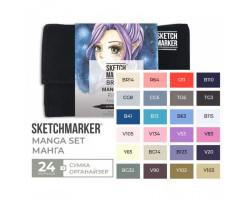 Набор маркеров SketchMarker Brush Манга 24 шт, SMB-24MANG