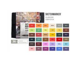 Набор маркеров SketchMarker Brush Европа 36 шт, SMB-36EUROP