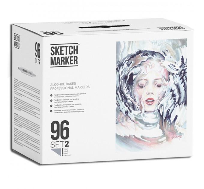 Набор маркеров SketchMarker Set 2 96 шт. (В пластик. Кейсе), SM-96SET2