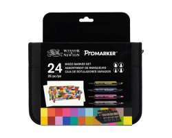 Набор маркеров Winsor & Newton, ProMarker 24 шт (Brushmarker, Promarker, Neon, Metalik) 24 шт, W&N