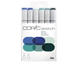 Маркеры Copic Sketch Set Sea & Sky 6 шт 21075664