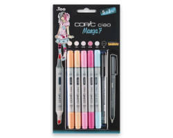 Маркеры Copic Ciao Manga 7, набор 5+1, цвета девочек + лайнер 22075564