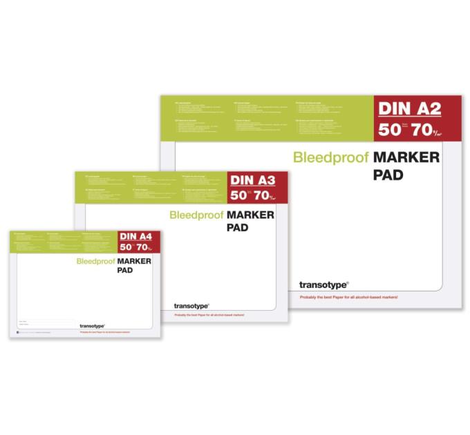 Альбом для маркеров A4 Transotype Alcohol Marker Pad 70 gm2, 50 листов