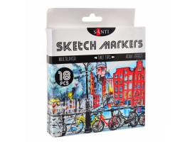 Набор маркеров SANTI sketch Brush 18 шт 390527