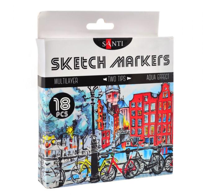 Набор маркеров SANTI sketch 18 шт 390527