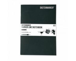 Скетчбук SketchMarker А5 16 листов, 160 г, темно-зеленый, MLSSM / HGREEN