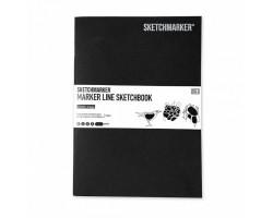 Скетчбук SketchMarker А5 16 листов, 160 г, черный, MLSSM / BLACK