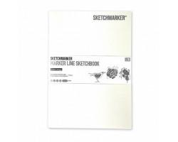 Скетчбук SketchMarker А5 16 листов, 160 г, белый, MLSSM / WHITE