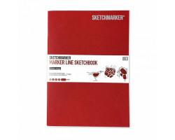 Скетчбук SketchMarker В5 16 листов, 160 г, вишня, MLSM / CHERR
