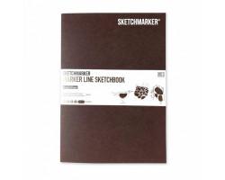 Скетчбук SketchMarker В5 16 листов, 160 г, красное дерево, MLSM / MAH