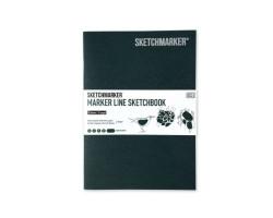 Скетчбук SketchMarker В5 16 листов, 160 г, темно-зеленый, MLSM / HGREEN