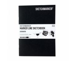 Скетчбук SketchMarker В5 16 листов, 160 г, черный, MLSM / BLACK