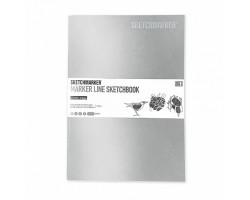 Скетчбук SketchMarker В5 16 листов, 160 г, серебряный, MLSM / SILV