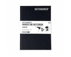 Скетчбук SketchMarker А5 44 листов, 160 г, черный, MLHSM / BLACK