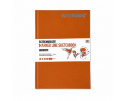 Скетчбук SketchMarker А5 44 листов, 160 г, оранжевый, MLHSM / ORAN