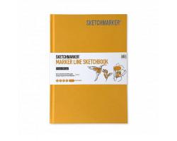 Скетчбук SketchMarker А5 44 листов, 160 г, желтый, MLHSM / MYELL