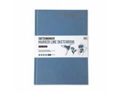 Скетчбук SketchMarker А5 44 листов, 160 г, светло-синий, MLHSM / LBLUE