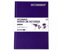 Скетчбук SketchMarker А5 44 листов, 160 г, фиолетовый, MLHSM / VIOL