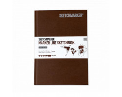 Скетчбук SketchMarker А5 44 листов, 160 г, темно-коричневый, MLHSM / DBRWN