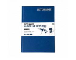 Скетчбук SketchMarker А5 44 листов, 160 г, синий, MLHSM / BLUE
