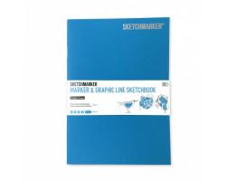 Скетчбук SketchMarker В5 16 листов, 180 г, бирюзовый, MGLSM / TURC
