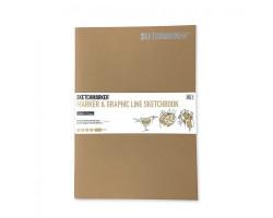 Скетчбук SketchMarker В5 16 листов, 180 г, бруно, MGLSM / BRUN