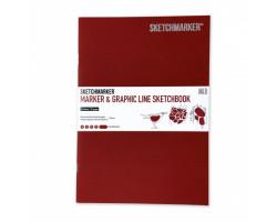 Скетчбук SketchMarker В5 16 листов, 180 г, красный, MGLSM / GRED