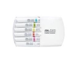 Набор маркеров Winsor & Newton, Pigment Marker 6 шт. ЯРКИЕ ТОНА