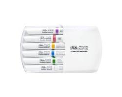 Набор маркеров Winsor & Newton, Pigment Marker 6 шт. Насыщенные тона