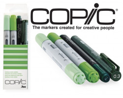 Маркеры Copic Ciao Set Doodle Pack Green 2+1+1 шт 22075644