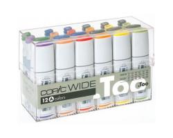 Маркеры Copic, WIDE A в наборе 12 шт + 12 чернил 3007501
