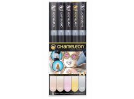 Chameleon маркеры набор 5 шт - Pastel Tones (пастельные тона) CT0501