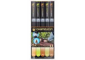 Chameleon маркеры набор 5 шт - Earth Tones (натуральные тона) CT0503