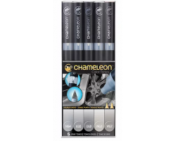 Chameleon маркеры набор 5 шт - Gray Tones (серые тона) CT0509