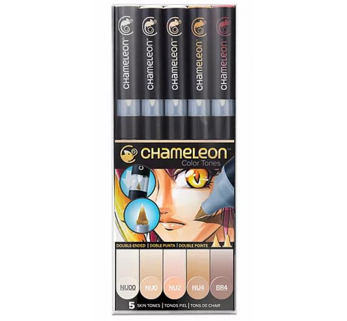 Chameleon маркеры набор 5 шт - Skin Tones (телесные тона) CT0510