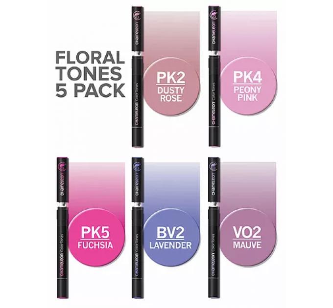 Chameleon маркеры набор 5 шт - Floral Tones (растительные тона) CT0512