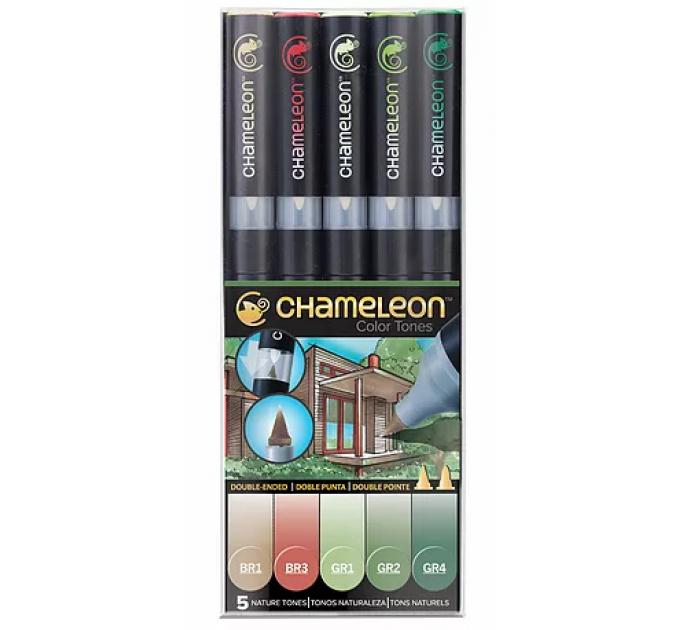 Chameleon маркеры набор 5 шт - Nature Tones (природные тона) CT0514