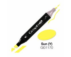 Маркер Graph'it двусторонний Солнце
