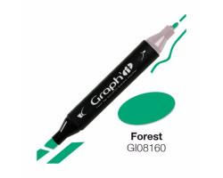 Маркер Graph'it двусторонний Зеленый лес
