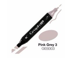 Маркер Graph'it двусторонний Розово-серый 3