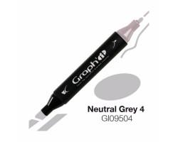 Маркер Graph'it двусторонний Нейтральный серый 4