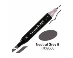 Маркер Graph'it двусторонний Нейтральный серый 8