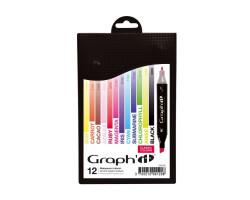 Маркеры Graphit в наборах Classic, Классические цвета, 12 шт - GI00120