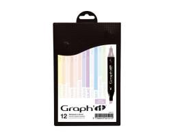 Маркеры Graphit в наборах Pastels - Soft, Пастельные цвета, 12 шт - GI00121