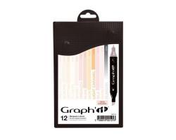 Маркеры Graphit в наборах, Оттенки телесного, 12 шт - GI00125