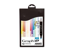 Маркеры Graphit в наборах Manga, Основные цвета, 12 шт - GI00126