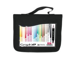 Маркеры Graphit в наборах, Основные цвета, 24 шт - GI00240