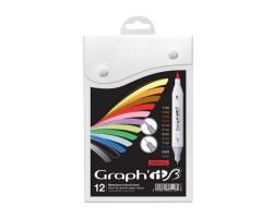 Набор двусторонних Brush маркеров Essential, 12 шт - GI80110