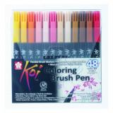 Маркер-кисть акварельная наборы Koi Coloring Brush Pen Sakura